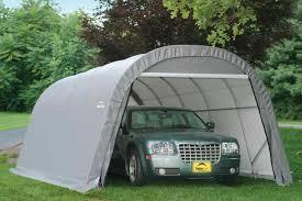 portable metal carport steel 2 car garage carport workshop
