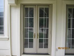 home design french doors with screens built in tv above