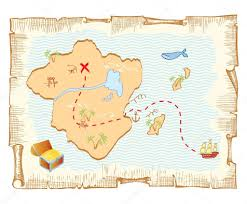 Old Treasure Map Treasure Map Vector Old Paper Background U2014 Stock Vector Geraktv