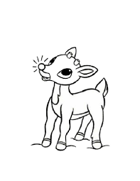reindeer coloring pages ngbasic com