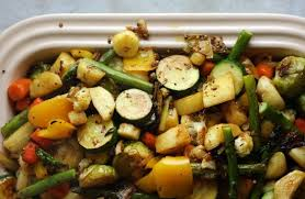 what are traditional vegetables and vegetarian dishes served at