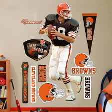 Cleveland Browns Home Decor by Amazon Com Nfl Cleveland Browns Bernie Kosar Wall Graphics