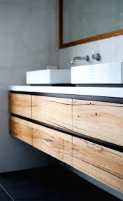 Sinks And Vanities For Small Bathrooms Bathroom Oak Wood Wall Mounted Bathroom Vanity With Double Sinks