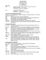 Dancer Resume Template Choreographer Resume Dancechoreography Resume
