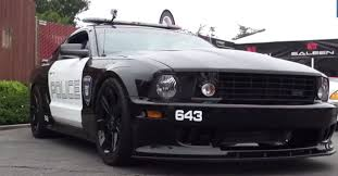transformers ford mustang saleen s281 dressed up like the deception barricade transformers