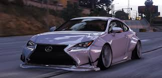 purple lexus lexus rc350 rocket bunny replace add on gta5 mods com