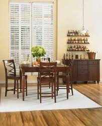 scheme for dining room decoration using rectangular cherry wood