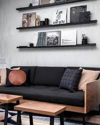 a sleek setup with the archive sofa the black walnut combo