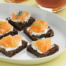 food canapes smoked salmon canapes with tarragon