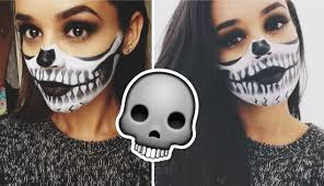 halloween makeup tutorial half skull face youtube