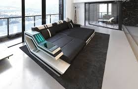 Sectional Sofa Black L Shape Led Contemporary Leather Sectionals Sofadreams