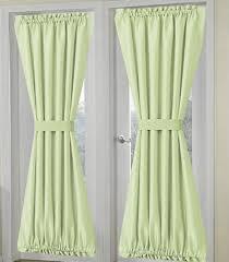 solid light green french door curtain panelssolid light green