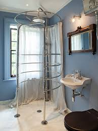 sheer shower curtain bathroom traditional with accent wall