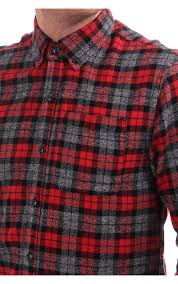 scotch u0026 soda ls checked shirt in brushed cotton red blueberries