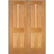 Oak Interior Doors Home Depot Mmi Door 61 5 In X 81 75 In Unfinished Red Oak 6 Panel Double