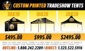 Custom Printed Canopy Tents by Custom Tradeshow Packages