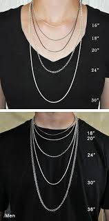 mens necklace chains length images Jewelry sizing guide element cottage jpg