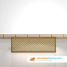 rectangle diamond privacy trellis fence panels 2ft x 6ft brown