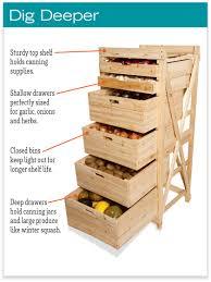 deep drawer harvest rack vegetable storage bins and rack