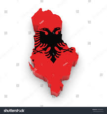 Map Of Albania 3d Illustration Map Outline Albania Albanian Stock Illustration