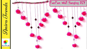 wall hanging craft ideas decorations diy with pom pom wall