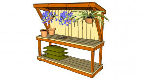 Free Woodworking Workbench Plans by Potting Bench Myoutdoorplans Free Woodworking Plans And