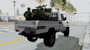 military land cruiser toyota land cruiser libyan army for gta san andreas