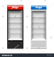 fridge freezer glass door upright glass door display fridge template stock vector 249822919