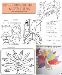 printable thanksgiving crafts and activities for by day