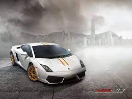 gold and white lamborghini lamborghini unveils gallardo hong kong 20th anniversary