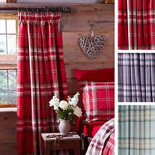 Tartan Drapes Catherine Lansfield Tartan Curtains Ebay