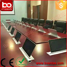 conference table pop up conference table pop up lcd motorized monitor lift with 15 6inch hd