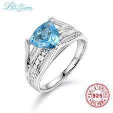 sted rings l zuan 925 sterling silver 2 075ct topaz blue prong