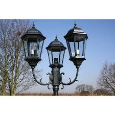 reverbere en fonte la boutique en ligne lampadaire extérieur triple 230 cm vert foncé