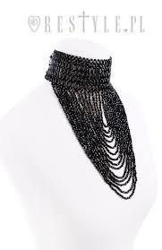 black bead collar necklace images Lexie choker quot big evening collar black beaded choker gothic jpg