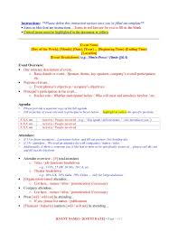 event briefing template for executive assistants