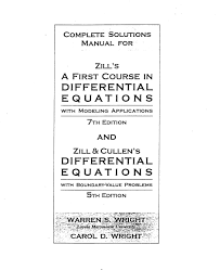 diffeial equations 4th edition solution manual