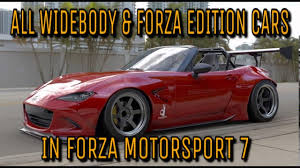 widebody jdm cars forza motorsport 7 all widebody u0026 forza edition cars youtube
