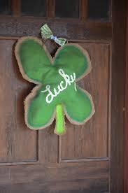 diy st s day burlap door hanger blissfully domestic