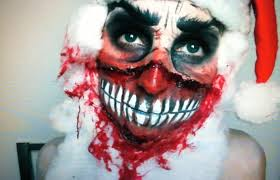 Scary Zombie Halloween Makeup by Scary Christmas Santa Claus Make Up Tutorial Youtube