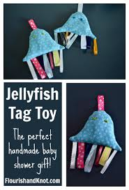Perfect Gift For Baby Shower Jellyfish Tag Toy Handmade Baby Shower Gift