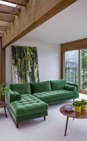 canap d angle vert mettez un canapé vert et personnalisez l intérieur archzine fr
