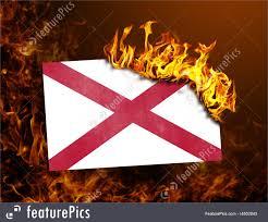 Flag Of Alabama Flag Burning Alabama Stock Picture I4502643 At Featurepics