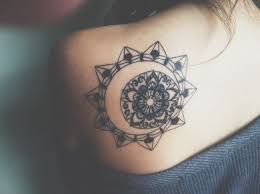back shoulder sun and moon idea jpg 730 545 tattoos and