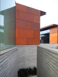 exterior design great blending concrete wall with glass and