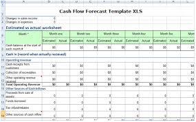 cash flow forecast template xls 2017 u2013 excel xls templates