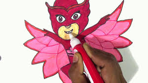 draw owlette pj masks disney junior drawing coloring