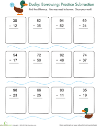 subtraction with regrouping practice worksheet education com