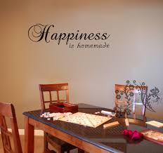 Home Made Wall Decor Happiness Is Homemade Wall Decals Wall Vinyl Wall Decor