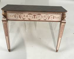 neoclassical style faux marble top console table italian 20th c
